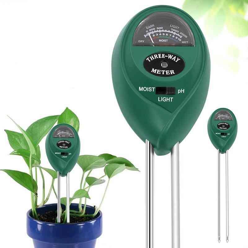 Soil Moisture Sunlight Ph Meter Tester- Plants Flowers Acidity Measurement Garden Tool