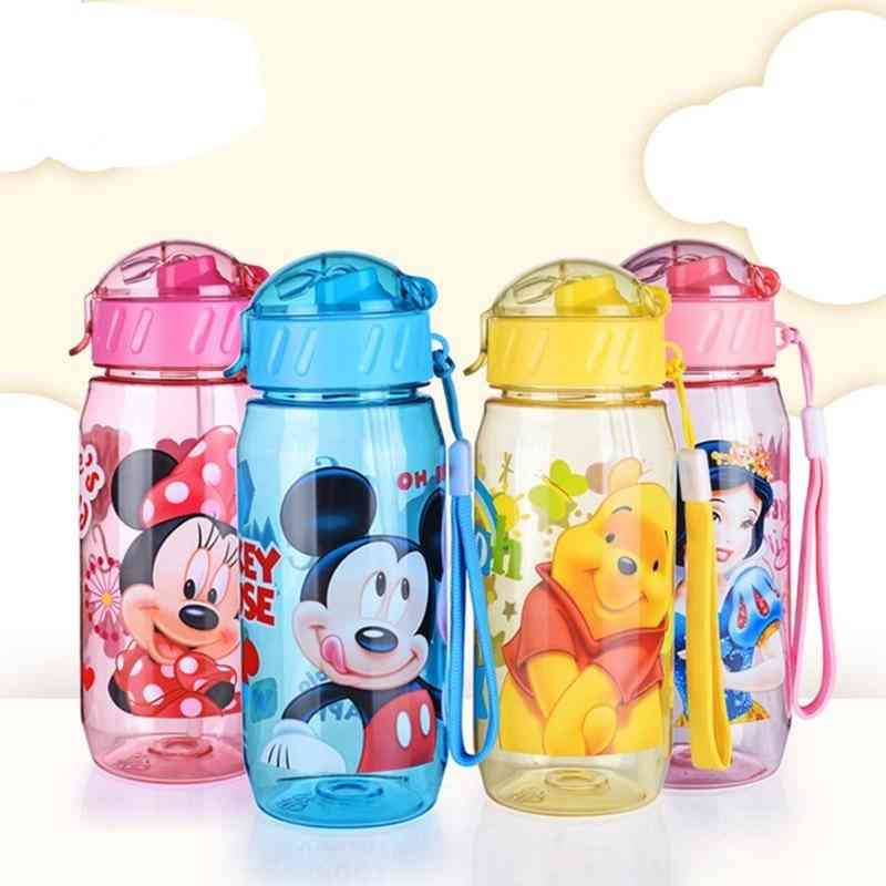 Cartoon Cups With Straw, Kids Snow White Captain America Sport Bottles