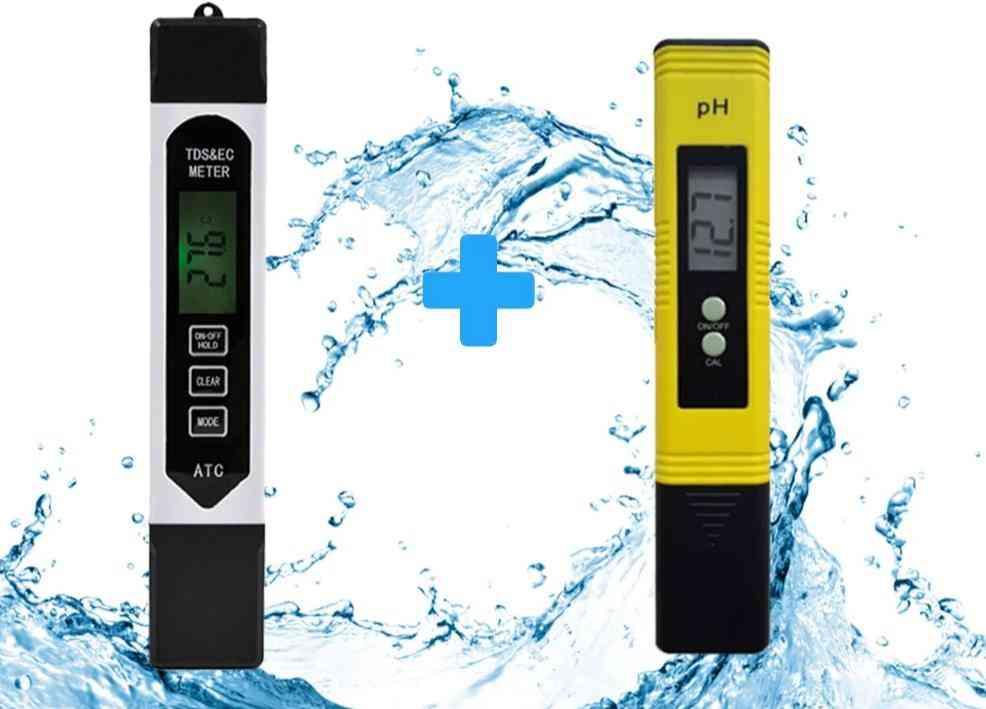 Lcd Digital Ph Meter-water Purity Ppm Filter Hydroponic For Aquarium Pool Water