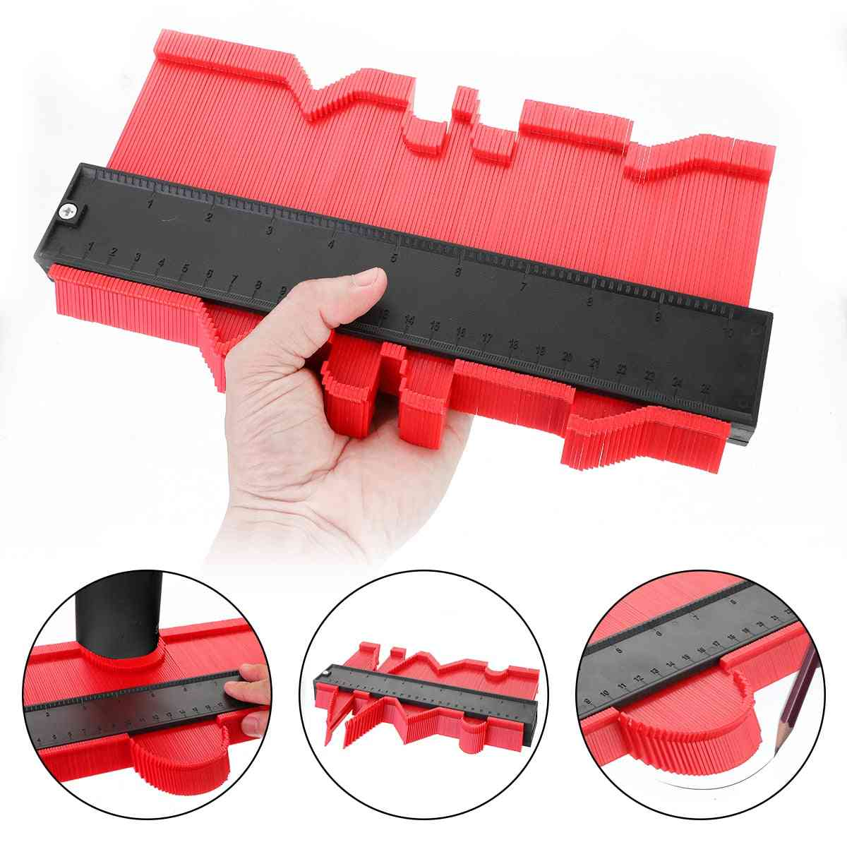 Contour Gauge Plastic Profile Copy Standard Wood Marking Tool Tiling Laminate Tiles