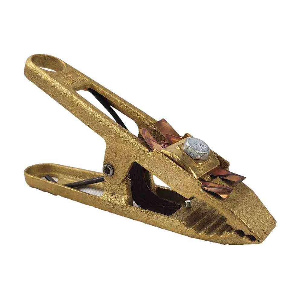 600a Welding Clamp Brass Mma Mig Tig Welding Machine Ground Clamp