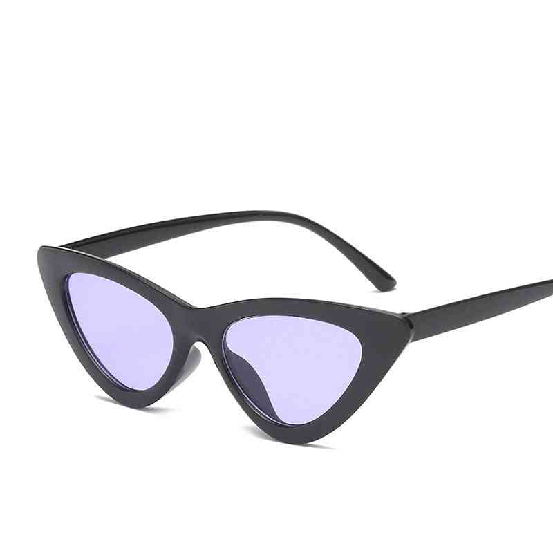 Women Fashion Cat Eye Shades, Driver Goggles, Integrated Uv Candy Colored Glasses