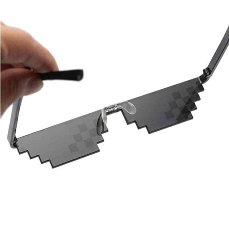Thug Life Sunglasses, Pixelated Men, Women Brand Party, Eyeglasses