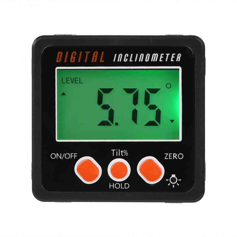 Magnetic Digital Inclinometer Level Box Gauge Angle Meter Finder Protector