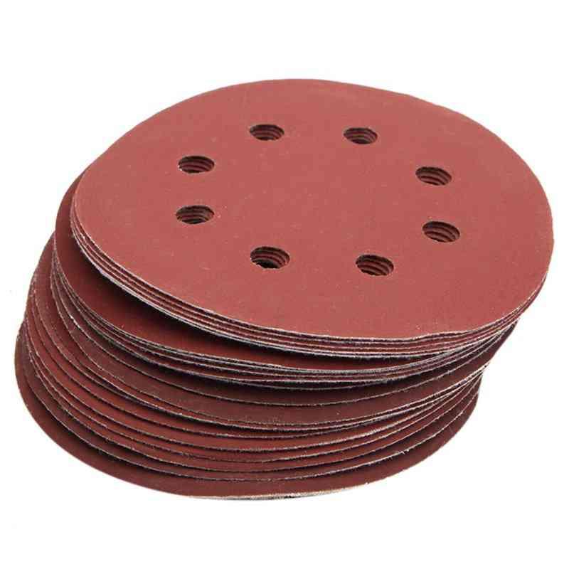 25pcs 5inch 8 Hole Grit 600, 1000, 1200, 1500, 2000, Sander Sanding Disc Sandpaper