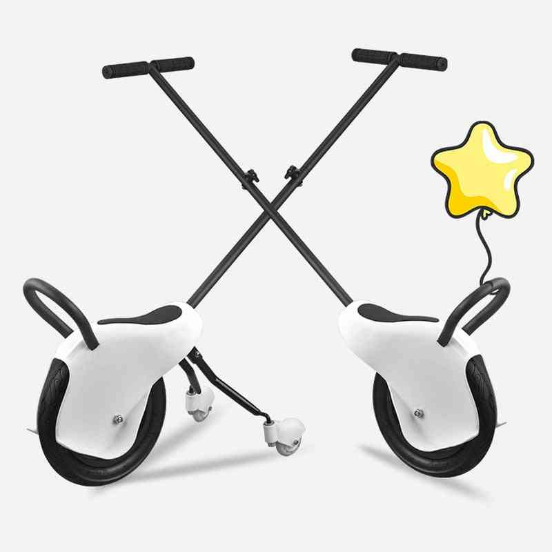 Three-wheels Stroller, Balance Tricycle, Portable Trolley Wheel, Hand Push Scooter