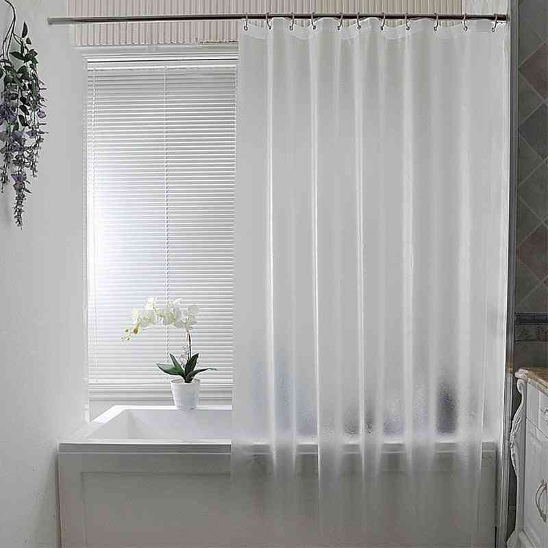Plastic Waterproof Punch Free Shower Curtain