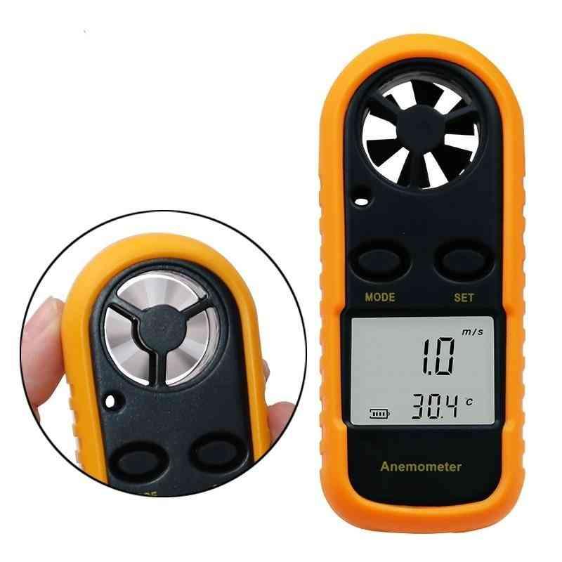 Digital Anemometer, Wind Speed Meter Temperature Tester
