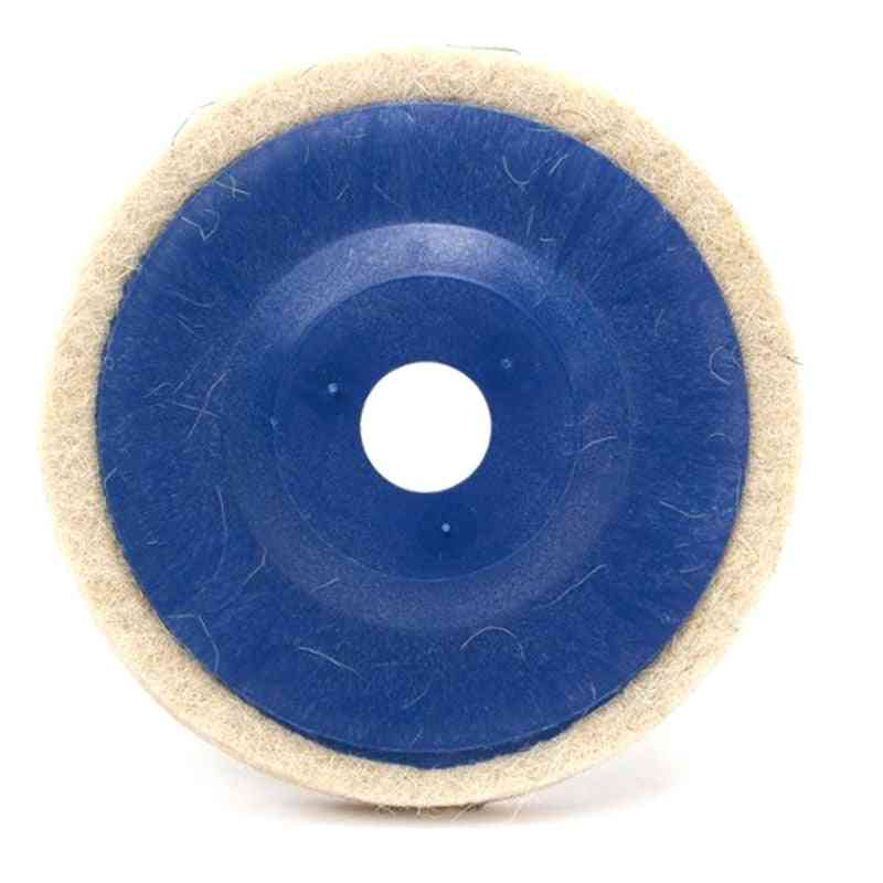 Wool Polishing Pads Buffing Angle Grinder Wheel Felt Polishings Disc Pad Set