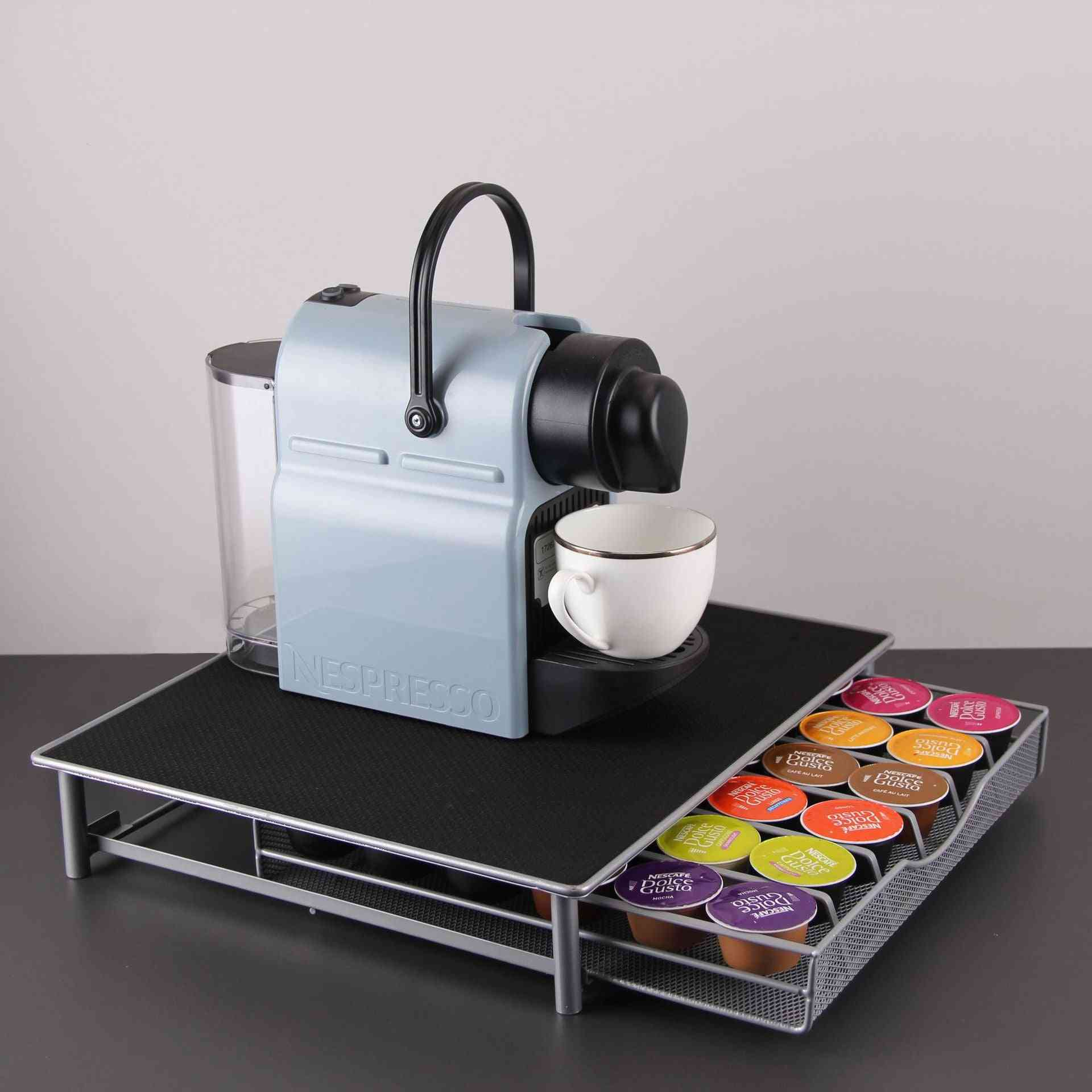 Stainless Steel Coffee Capsules Pods Holder, Storage Stand Rack