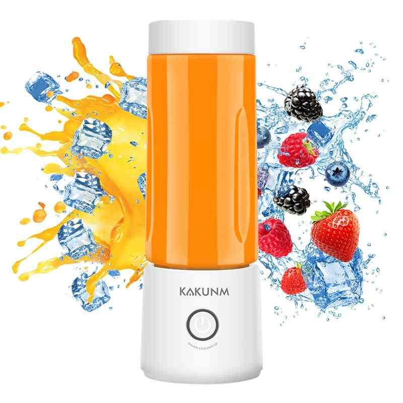 Portable Mini Electric Fruit Juicer Blender And Straws