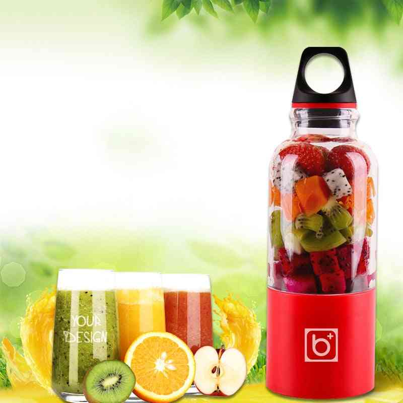 Portable Electric Usb Rechargeable Vegetables Fruit Juice Maker Bottle