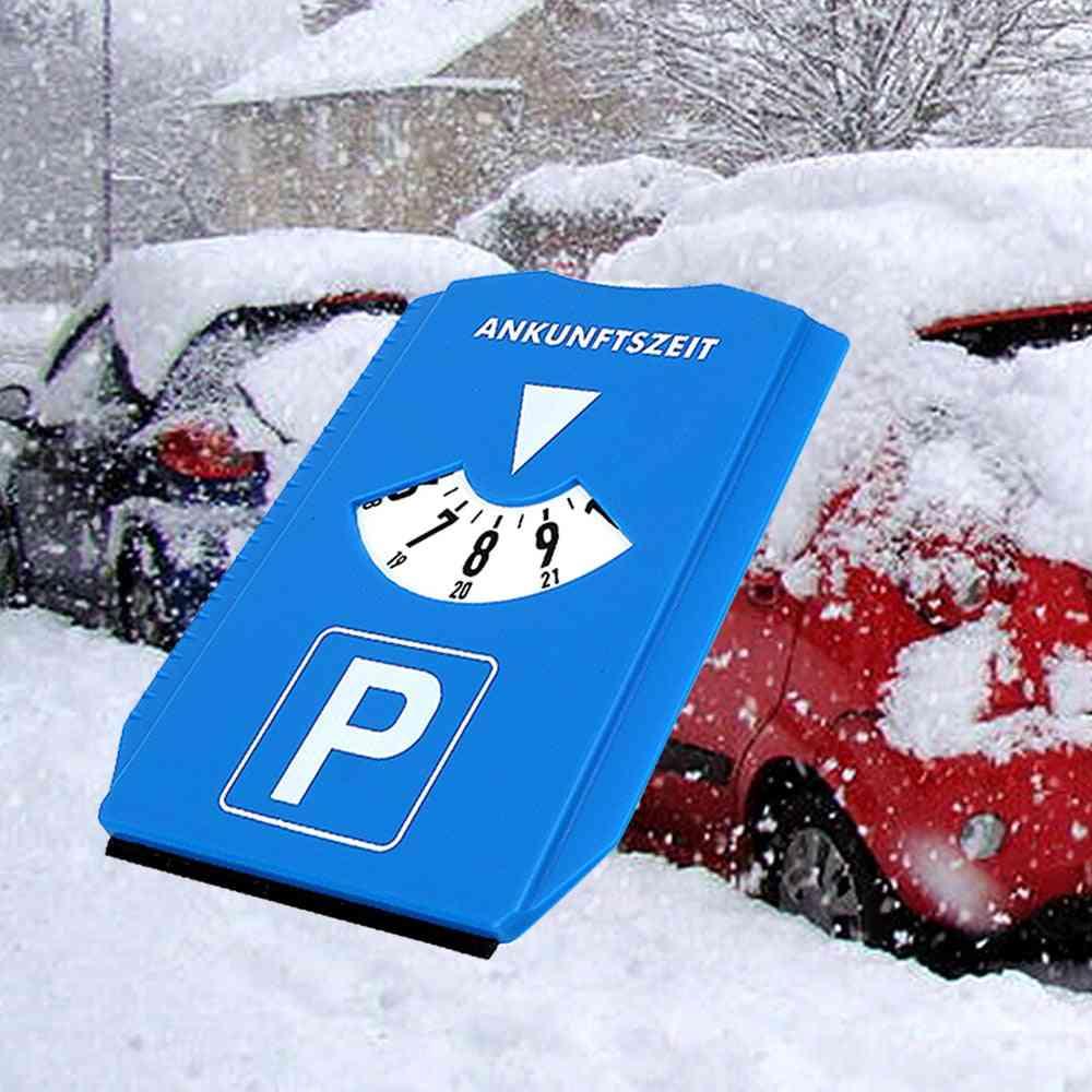 Car Windshield Snow Shovel Time Display Disc Return Time Note Ice Scraper Car Parking Time Sign