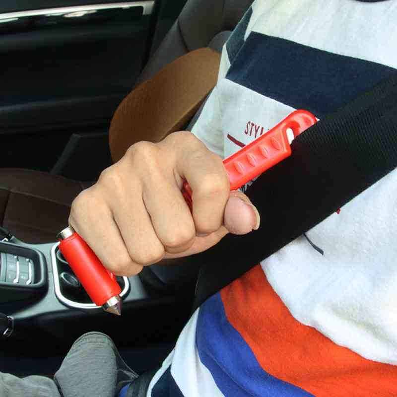 Mini Safety Hammer/multifunction Seat Belt Cutter