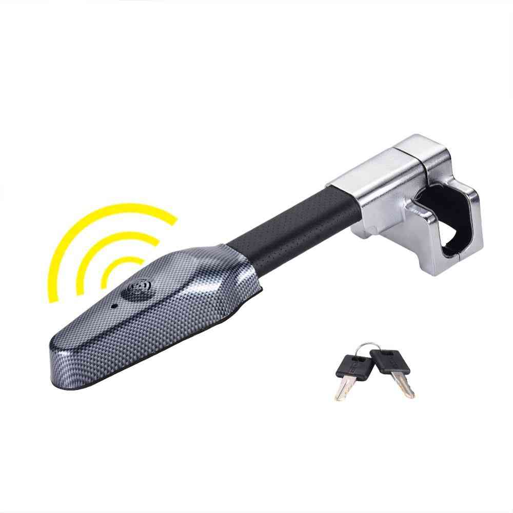 Steering Wheel Lock For Car Security With Anti Theft Alarm Lock