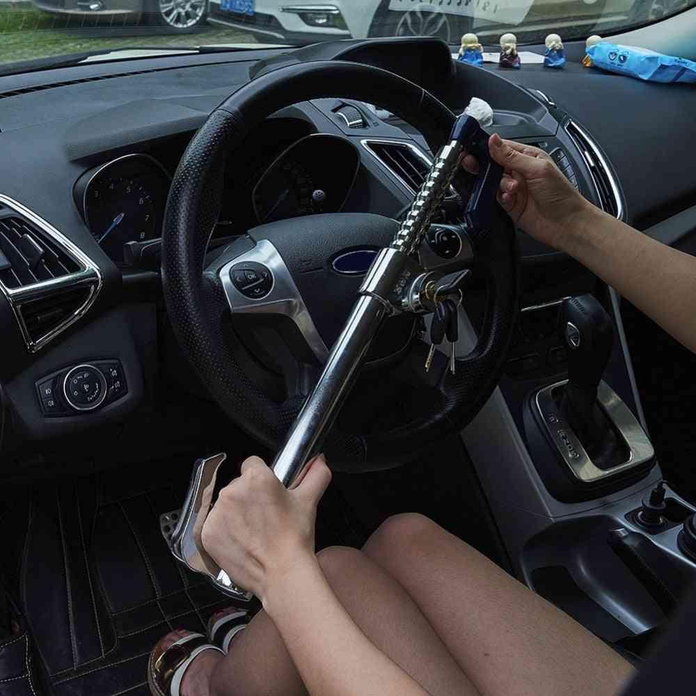 Stainless Steel Steering Wheel, Clutch Brake Lock For Car