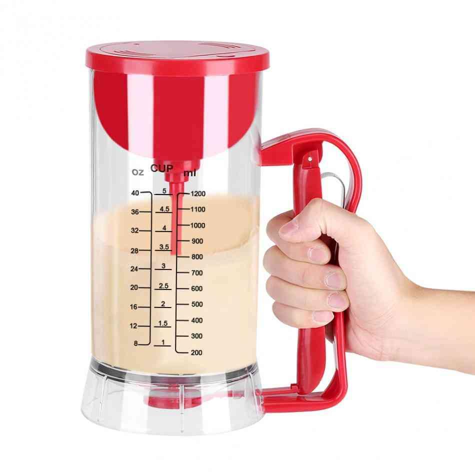 Cordless Electric Mixer Pancake, Cupcake, Waffle Batter Maker Machine Kitchen Baking Tool (red)