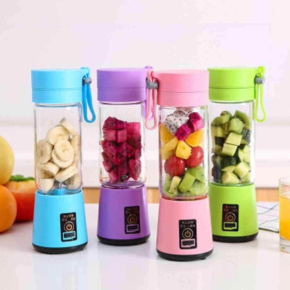 Portable Electric Fruit Juicer, Handheld Vegetable Juice Maker Rechargeable Mini Blender