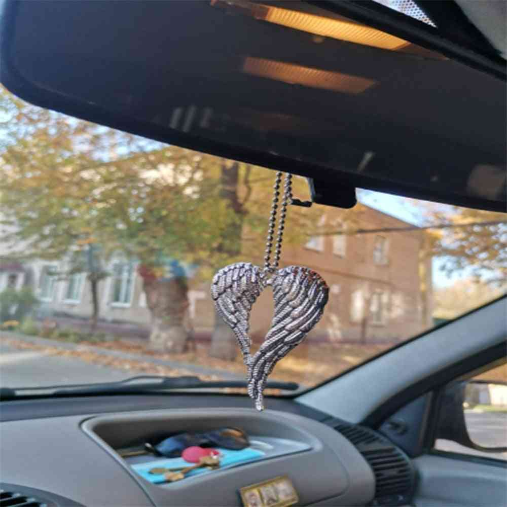 Car Pendant Angel Wing Rearview Mirror Decoration