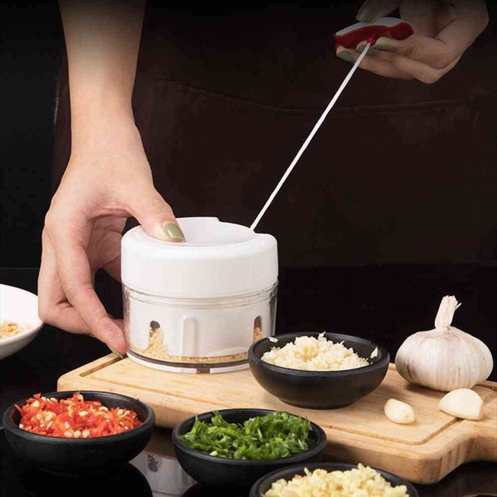 High Quality Rope Food Hand Chopper Processor Silcer Shredder Salad Maker
