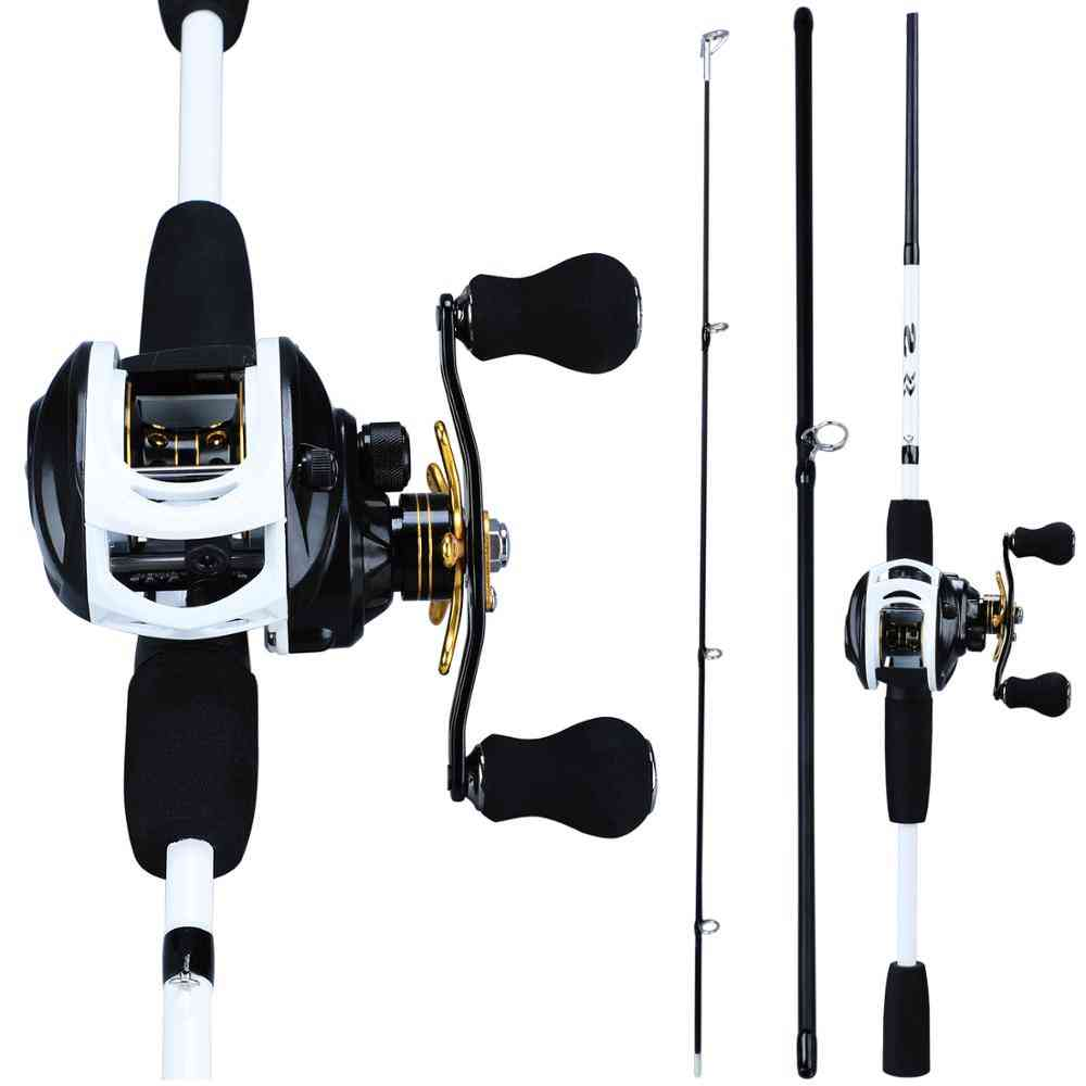 Fishing Combo Carbon Rod With 12+1bb Baitcasting Reel Fishings Tackle Kit