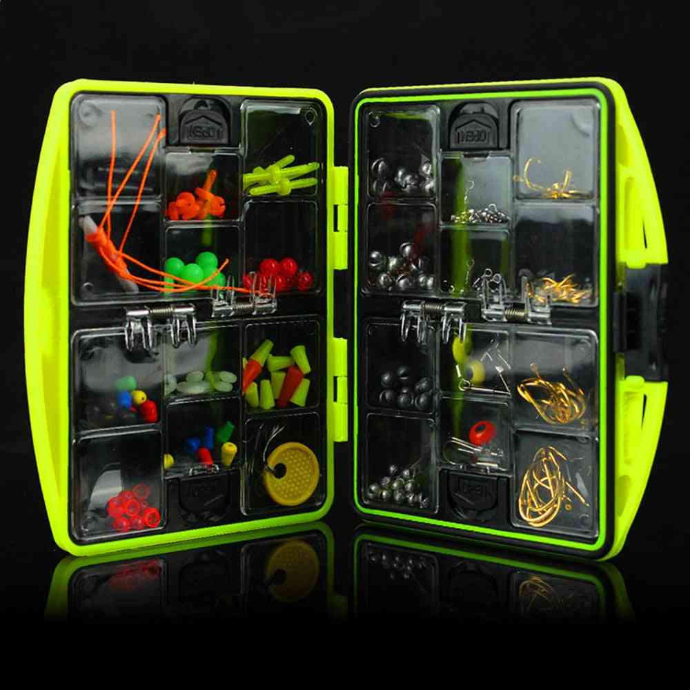 Multifunctional Fishing Tackle Kit- Hooks, Spoon & Sinker Accessories Tools Set