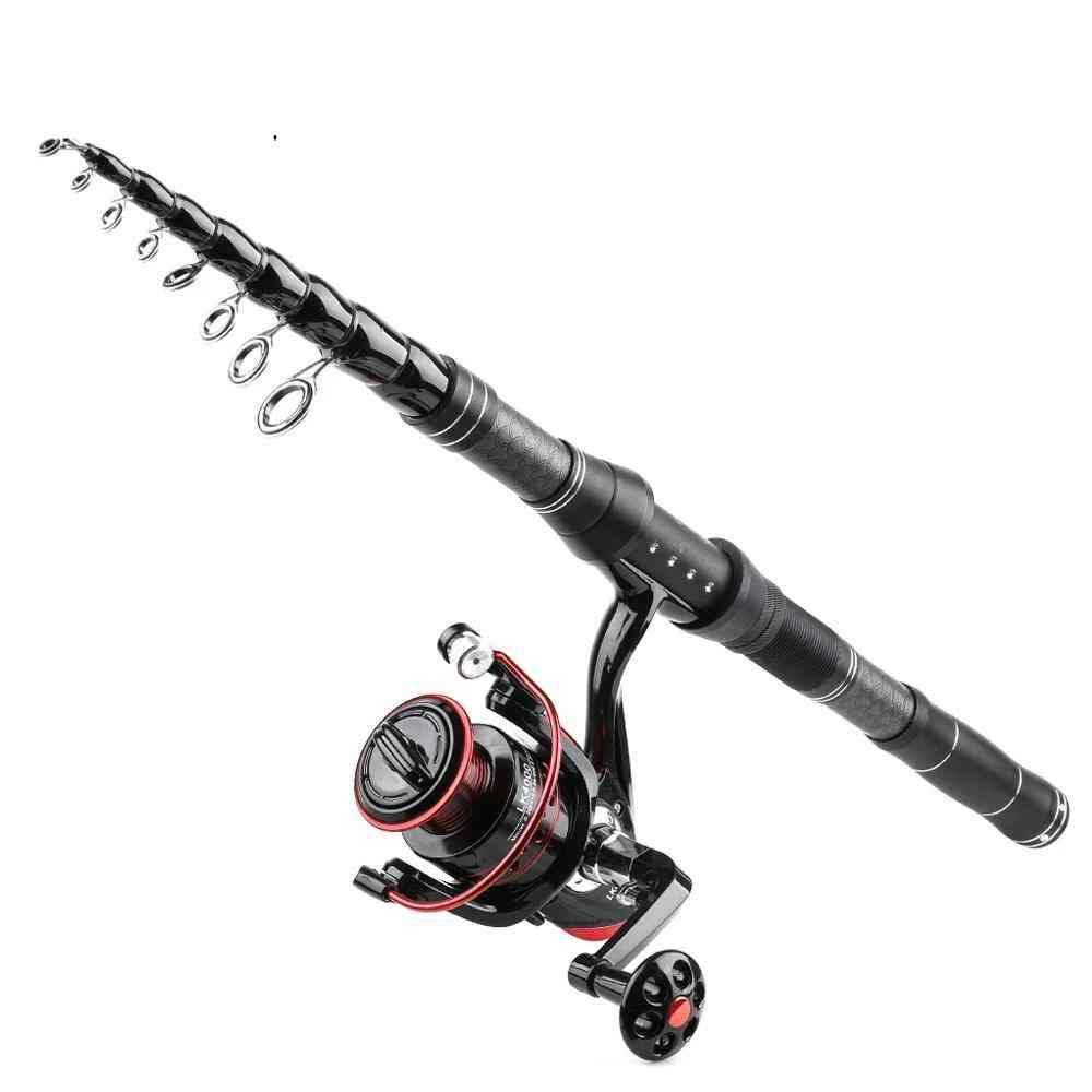 Telescopic Fishing Rod, Reel And Line Set For River/lake/reservoir
