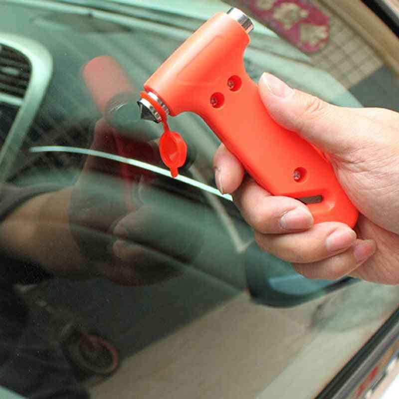 Emergency Escape Safety Gear Break, Window Glass Hammer/belt Rope Cutter