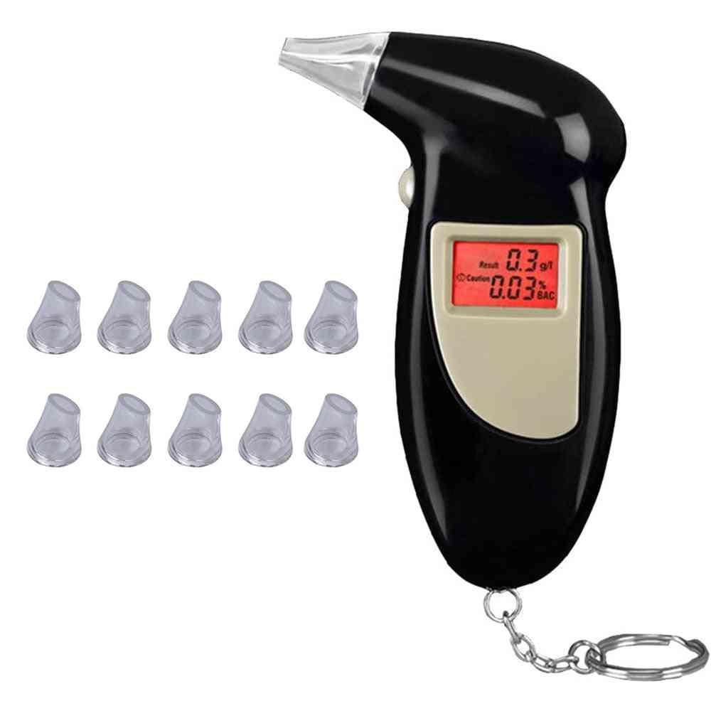 Breathalyzer Analyzer Detector Lcd Screen Digital Alcohol Breath Tester