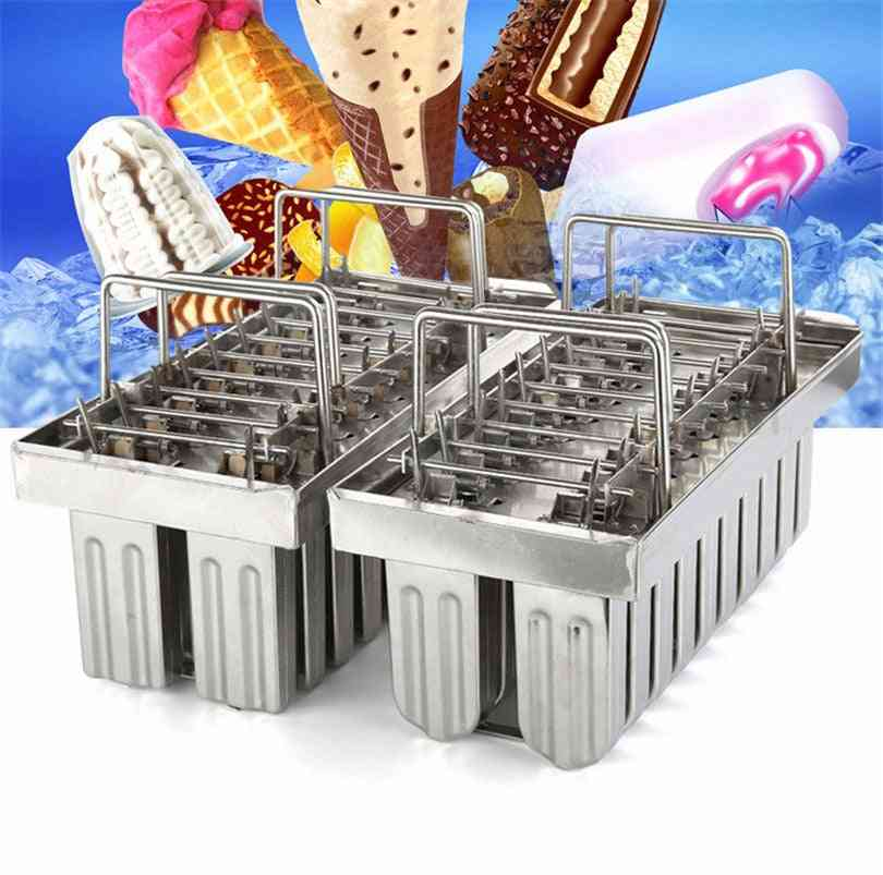 Commercial Diy Stainless Steel Ice Popsicle Mold Set