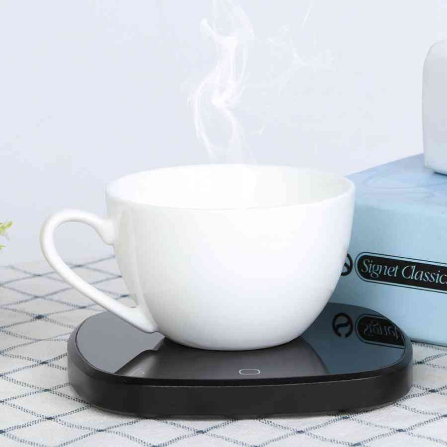 Touch Thermostat Heating Coaster Pad, Mat, Electric Coffee Mug Warmer