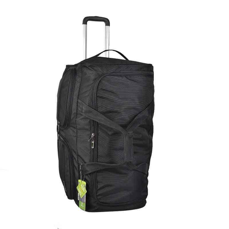Large Capacity Shoulders Travel Bag, Rolling Luggage Backpack