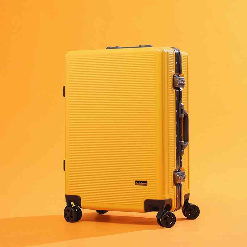 Aluminum Frame Rolling Luggage Spinner On Wheel Carry On Travel Suitcase