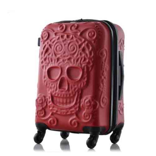 Skull Travel Luggage Bag, Carry-on Kinder Trolley Suitcase On Wheels