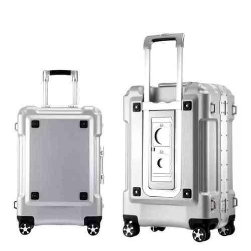 Aluminum Frame Rolling Luggage Spinner On Wheel-travel Suitcase