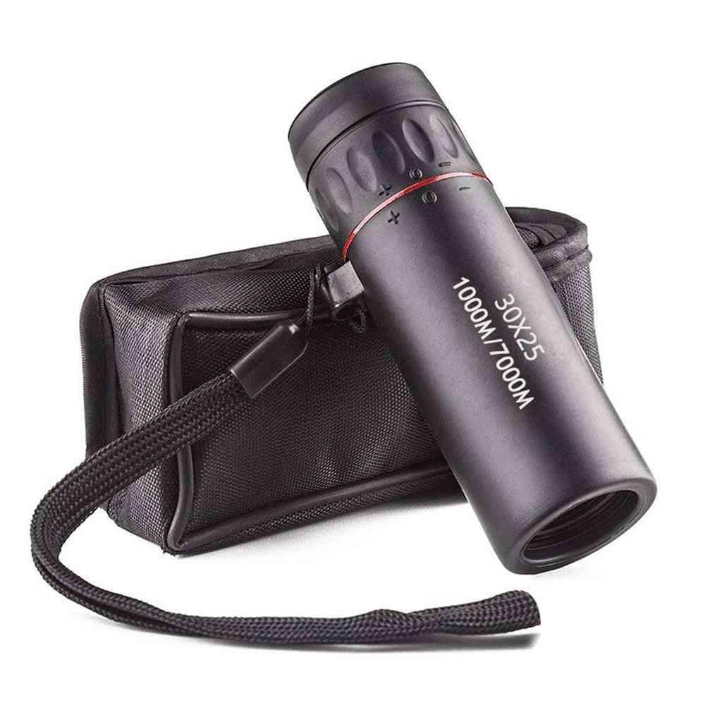 Mini Portable, Monocular Telescope With Wrist Strap 10x-scope For Hunting
