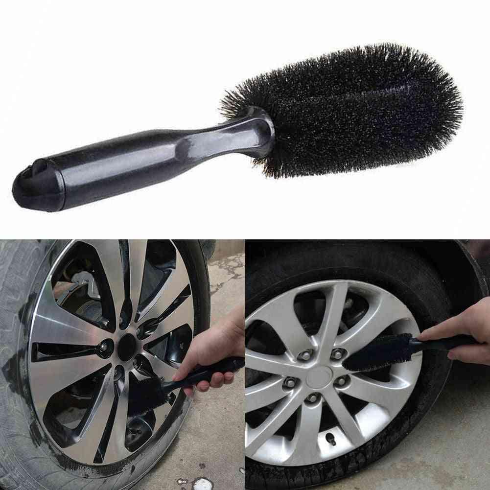 Vehicle Wheel Brush Washing Tire Rim Cleaning Handle Brushes Tool