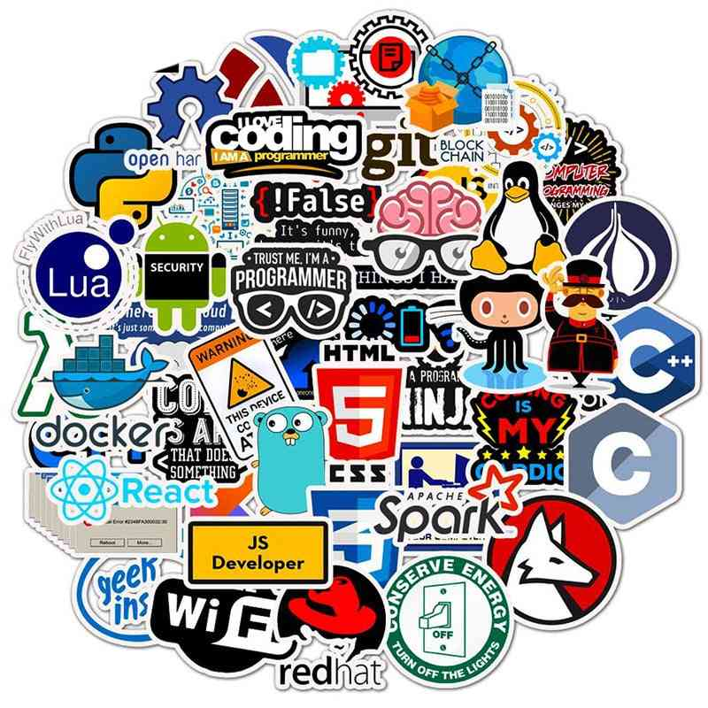 Programming/technology Stickers For Computer/laptop/phone