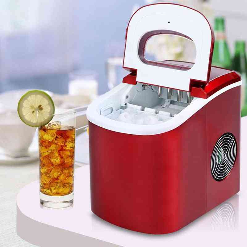 Mini Automatic Electric Ice Machine, Portable Bullet Round Making