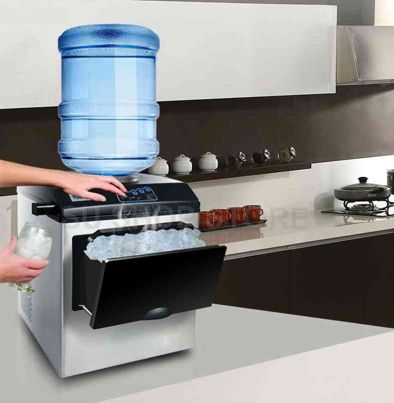 Commercial Automatic Ice Cube Maker, Electric Bullet Round Ice-making Machine