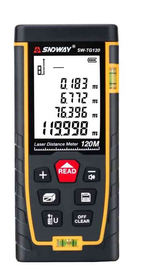 Laser Distance Meter, Range Finder Metro Lasers Tape Measure Ruler Roulette Tool