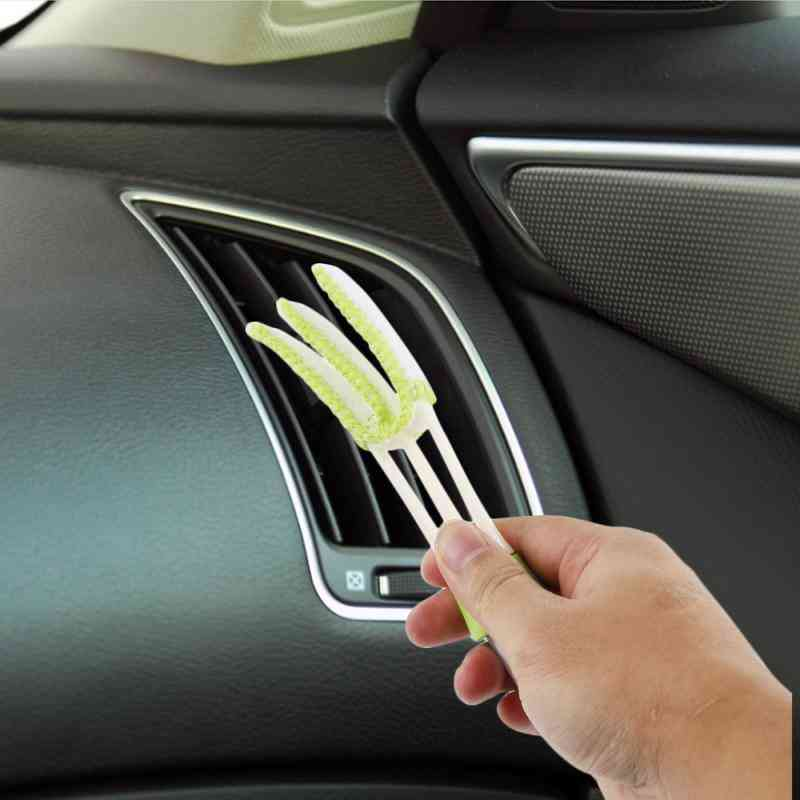 Double Slider Car Clean Tools Brush/air Conditioner Vent Slit