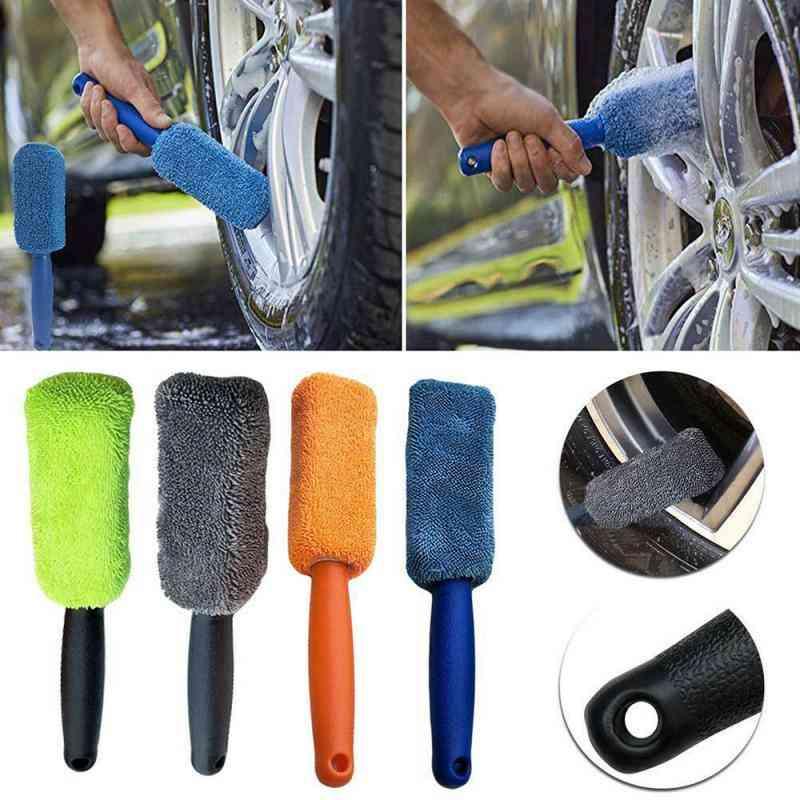 Car Wash Portable Microfiber Wheel Tire Rim Brush