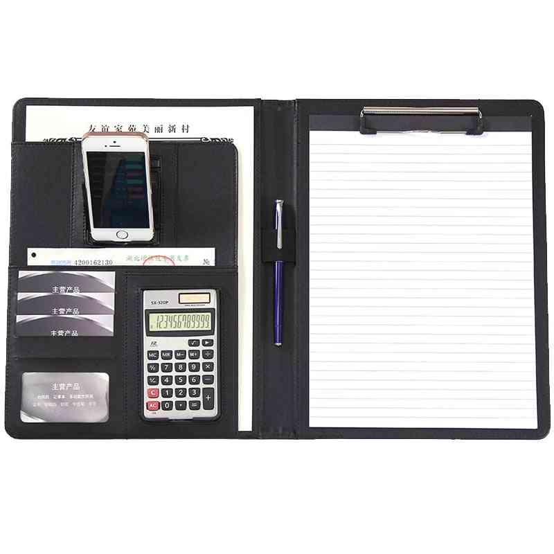 File Folder With Calculator, Phone Holder, Multifunction Office Organizer