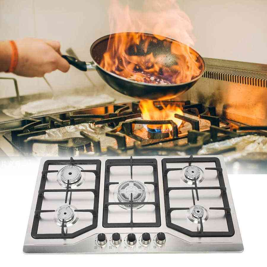 Embedded Multi-oven Gas Stove Household Bright Fire Stainless Steel Gas Stove
