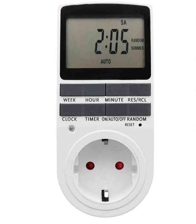 Electronic Digital Timer Switch Plug Kitchen Timer Outlet Hour Programmable Timing Socket