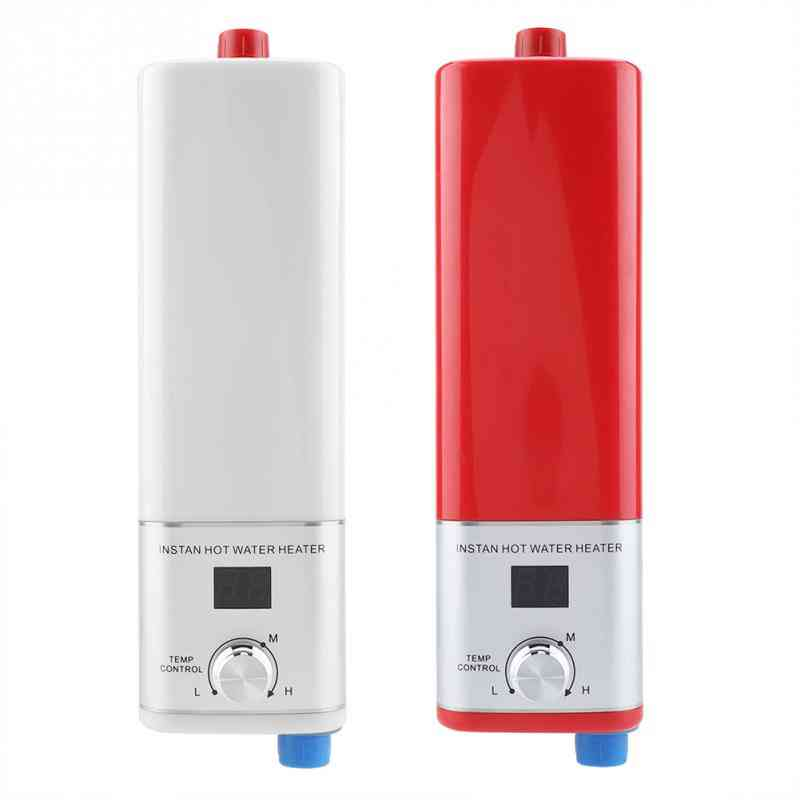 Digital Tempreture Display Tankless Water Heater, Instant Electric Instantaneous Shower