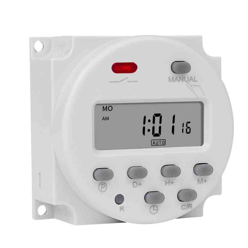 Digital Microcomputer 7days Weekly Programmer Electronic Timer Switch - Relay With Countdown