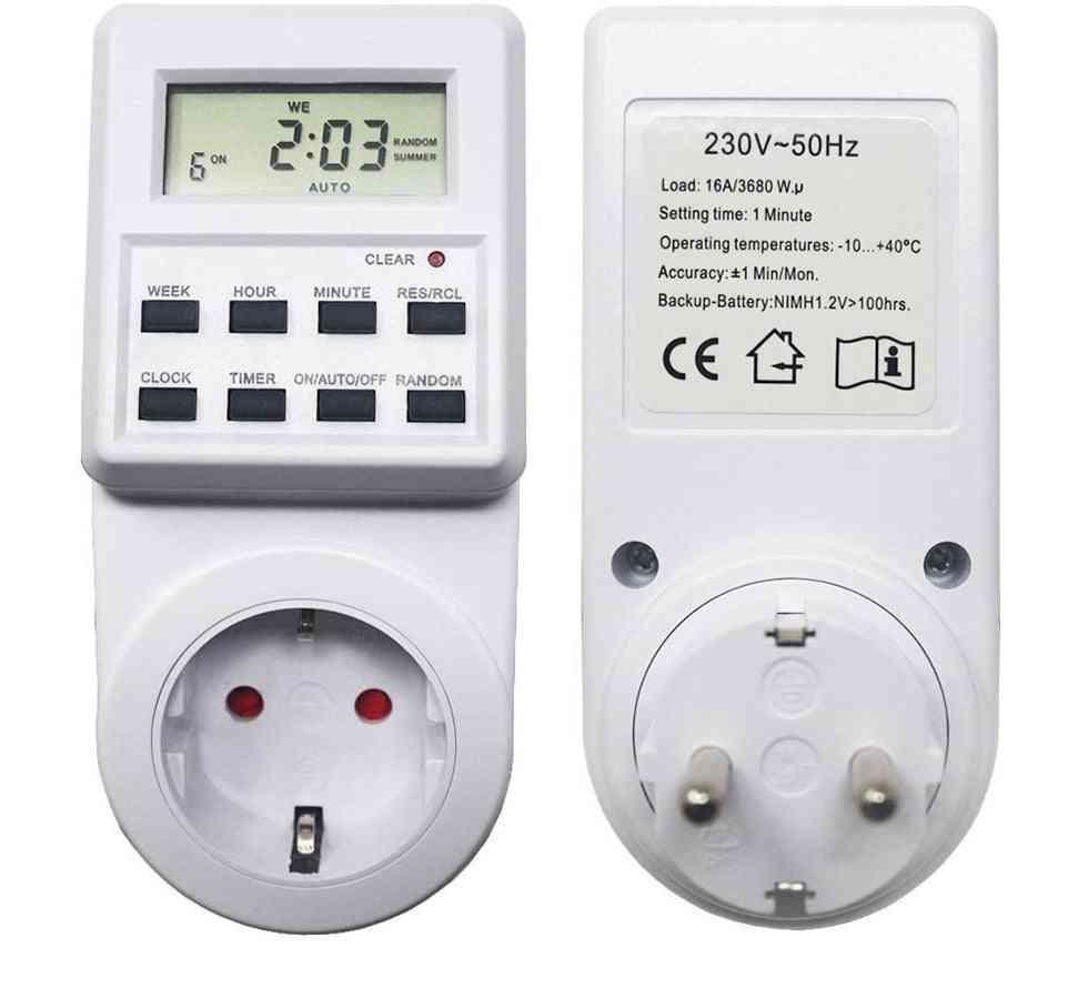 Eu Plug -in Timer Switch-weekly Programmable Socket