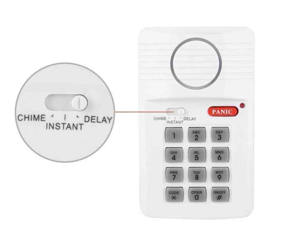 Door Alarm Security Keypad With Panic Button For Home, Office